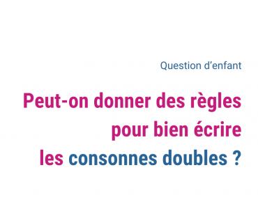 consonnes doubles
